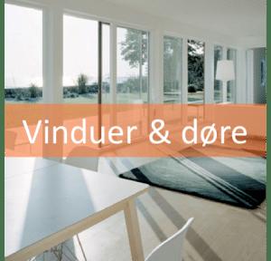 Vinduer døre og inventar nybygning og tilbygning Tana Byg Tømrer og Snedker Træ Emballage i Ringkøbing skjern og omegn
